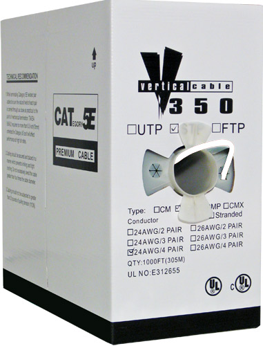 White Cat 5E Bulk UTP Cable