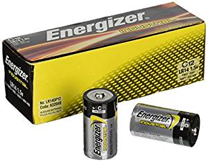Energizer EN93 Industrial C Batteries