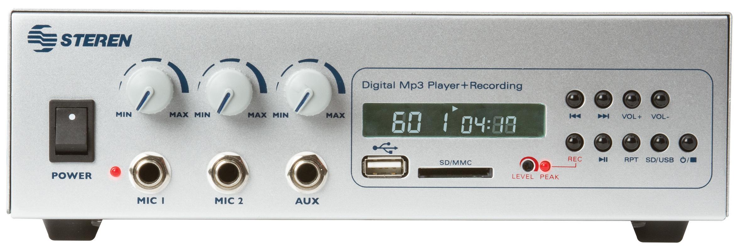 Steren AMP-040SD 40W 70V Power Amp with USB/SD