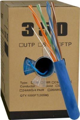 Blue Cat 5E Plenum Bulk UTP Cable