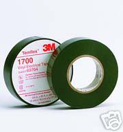 3M Temflex Black Vinyl Electrical Tape 1700, 3/4 in x 66 ft