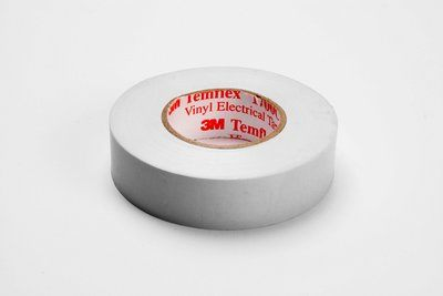 3M Temflex White Vinyl Electrical Tape 1700C, 3/4 in x 66 ft