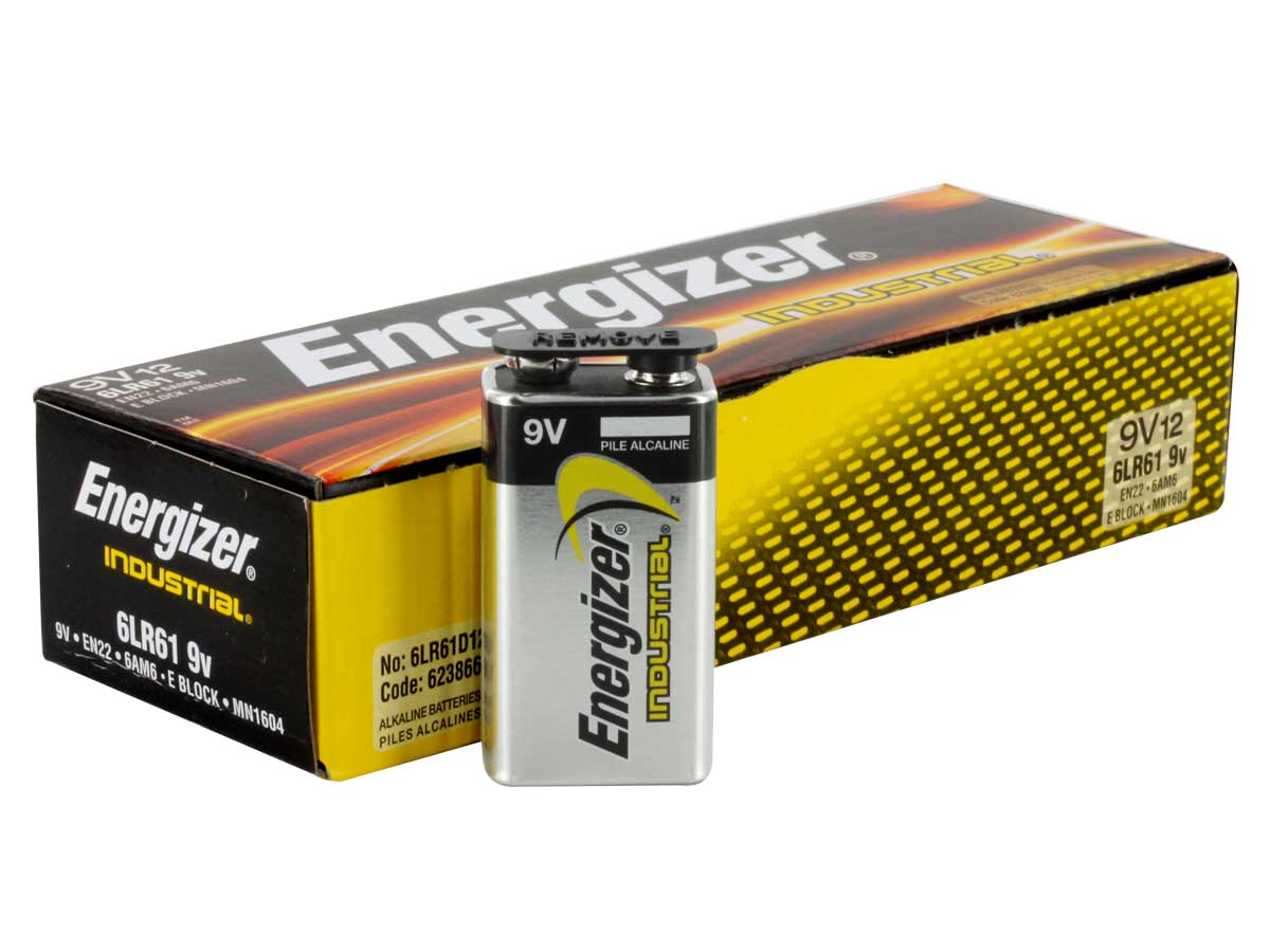 Energizer EN22 Industrial 9V Batteries