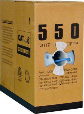 Blue Cat 6 Plenum Bulk UTP Cable