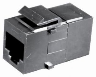 Dynacom 17159-C6-BK Black Cat 6 Feed-thru Coupler