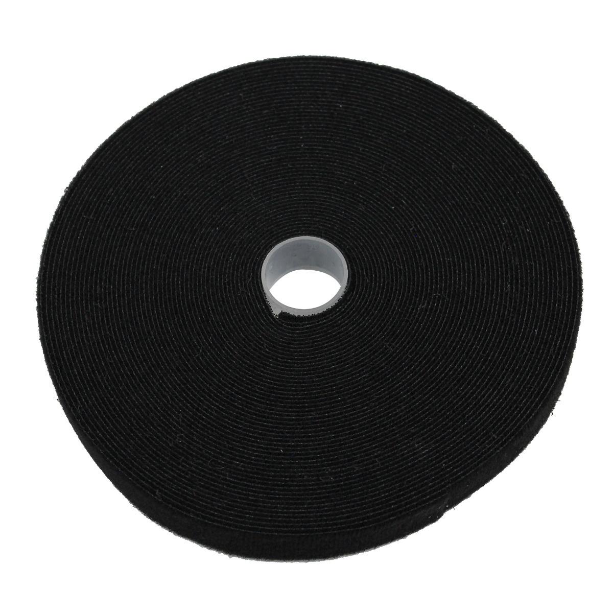 """Hook & Loop Tape, 1/2"""" Wide, Black, 50FT Roll"""