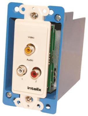Intelix AVO-V1A2-WP-F Composite Video and Stereo Audio Wallplate