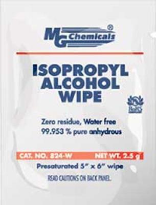 MG Chemicals 824-WX25 Isopropyl Alcohol Wipes