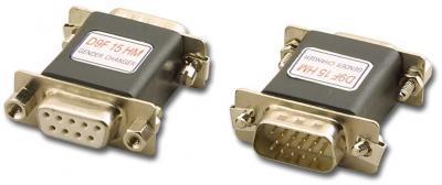 VGA ADAPTOR, DB9 FEM TO HiDen15 MALE -  AD-D9F15HM