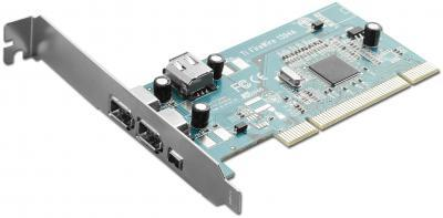 Pan Pacific Enterprises INT-PCI-1394A-3+1 IEEE-1394A 3(2@6+1@4)+1 PORT PCI CARD