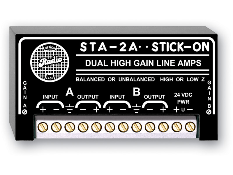 Dual High Gain Line Amplifiers